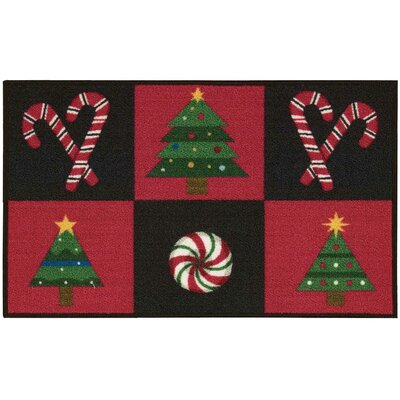 Doyers Black/Red Area Rug