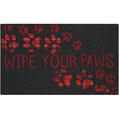 Woodby Black/Red Area Rug