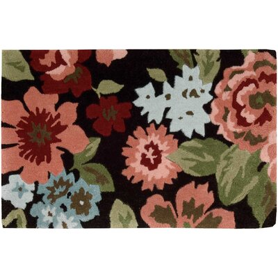 Woodburn Black/Peach Area Rug Rug Size: Rectangle 23 x 39