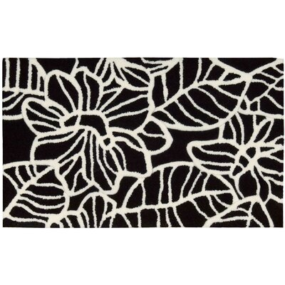 Moultry Black/White Area Rug Rug Size: Rectangle 18 x 29