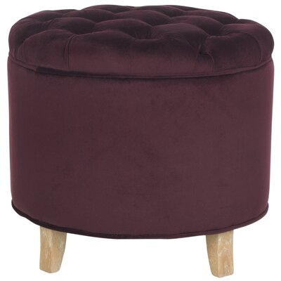 Hargrave Tufted Storage Ottoman Upholstery: Bordeaux