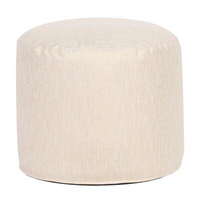 Crowl Glam Pouf Upholstery: Snow