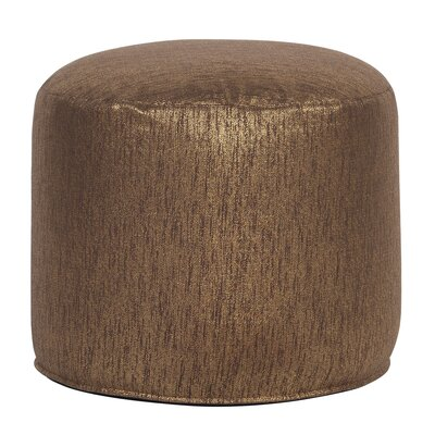 Crowl Glam Pouf Upholstery: Chocolate