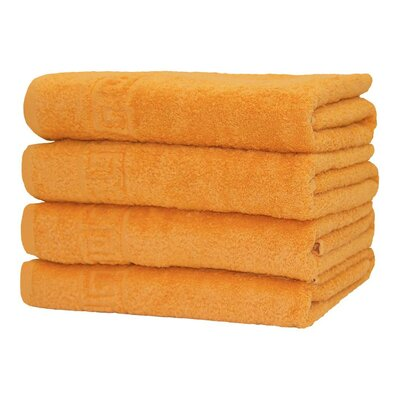 Faszcza 100% Cotton Hand Towel Color: Orange