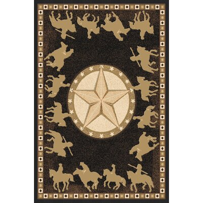 Philips Wool Black Area Rug Rug Size: Rectangle 53 x 72