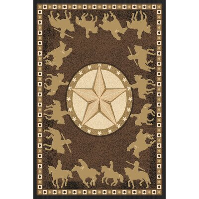 Phillippi Wool Brown Area Rug Rug Size: Rectangle 5'3