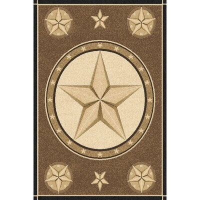 Phinney Wool Brown Area Rug Rug Size: Rectangle 53 x 72