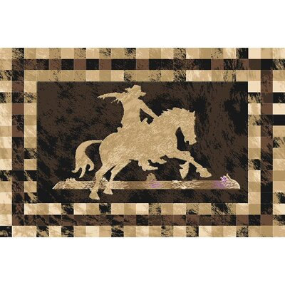 Phipps Wool Black Area Rug Rug Size: Rectangle 7'11