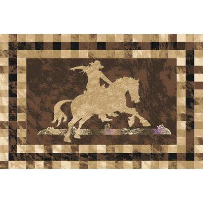 Piatt Wool Brown Area Rug Rug Size: Rectangle 5'3