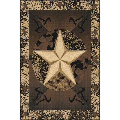Picard Wool Black Area Rug Rug Size: Rectangle 53 x 72
