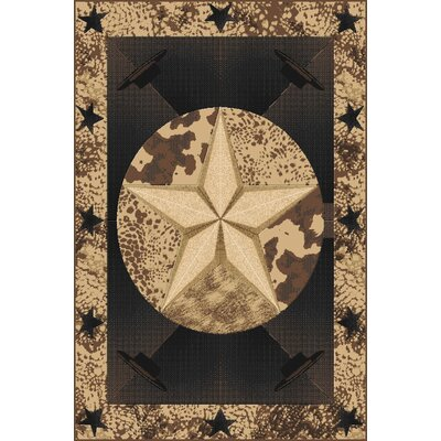 Pichardo Brown Area Rug Rug Size: Rectangle 53x72