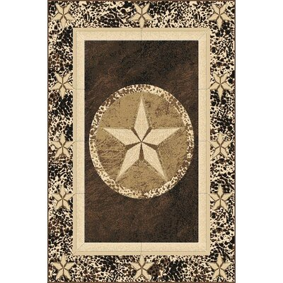 Pickens Wool Brown Area Rug Rug Size: Rectangle 53 x 72