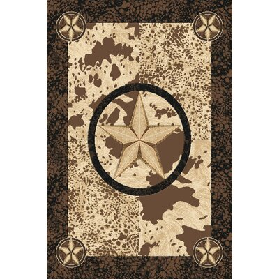 Pickett Wool Brown Area Rug Rug Size: Rectangle 5'3