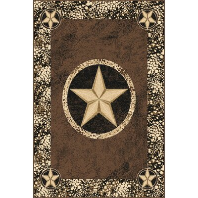 Pickrell Wool Brown Area Rug Rug Size: Rectangle 53 x 72