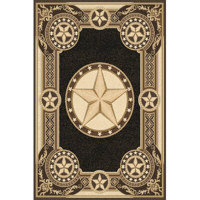 Makela Wool Black Area Rug Rug Size: Rectangle 711 x 910