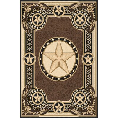 Makin Wool Brown Area Rug Rug Size: Rectangle 53 x 72