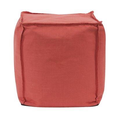 Montanez Square Ottoman Upholstery: Slud Poppy