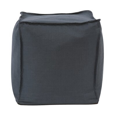 Montanez Square Ottoman Upholstery: Slub Indigo