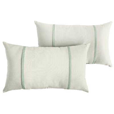 Churchton Sunbrella Indoor/Outdoor Lumbar Pillow Color: White/Spa