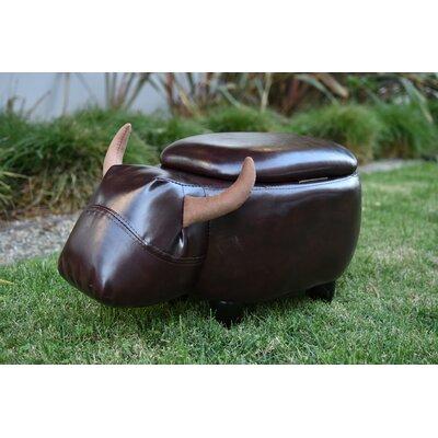 Pierro Cow Storage Ottoman Upholstery: Espresso