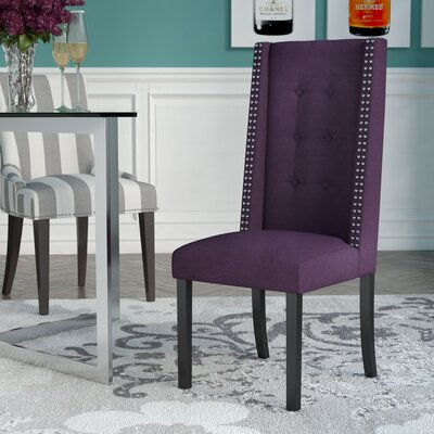 Gingerich Side Chair Upholstery: Aubergine