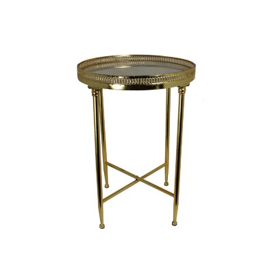 Maribelle Marble Top Round End Table