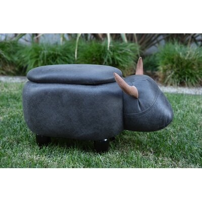 Pierro Cow Storage Ottoman Upholstery: Gray
