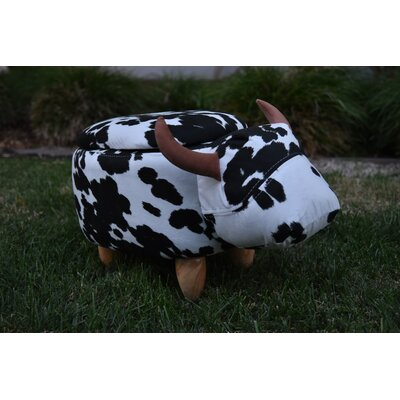 Pierro Cow Storage Ottoman Upholstery: Suede