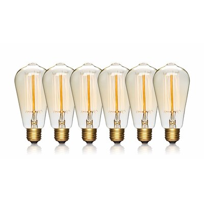 60W E26/Medium Vintage Incandescent Filament Light Bulb