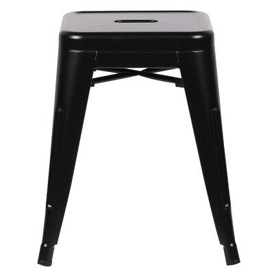 Alyssa 18 Bar Stool Color: Black