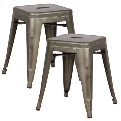 Alyssa 18 Bar Stool Color: Bronze