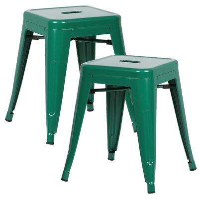Alyssa 18 Bar Stool Color: Dark Green