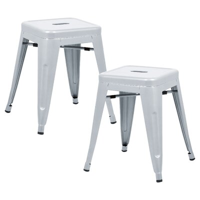 Alyssa 18 Bar Stool Color: Gray