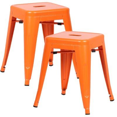 Alyssa 18 Bar Stool Color: Orange