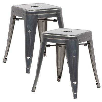 Alyssa 18 Bar Stool Color: Polished Gunmetal