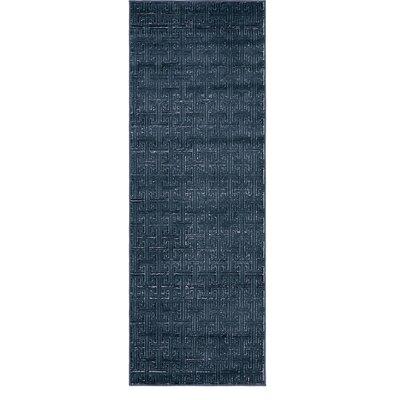 Uptown Navy/Blue Area Rug Rug Size: Runner 22 x 6