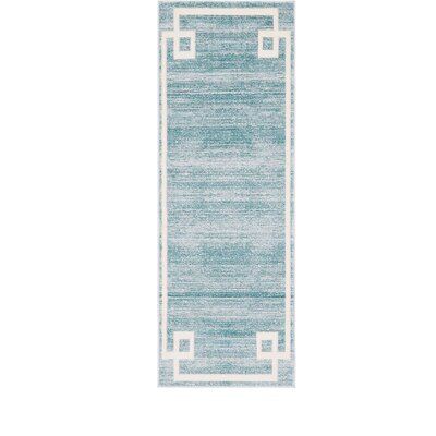 Uptown Turquoise Area Rug Rug Size: Runner 22 x 6
