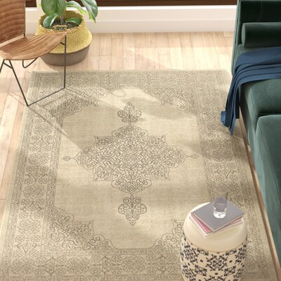 Holmes Flat Woven Wool Natural Area Rug Rug Size: Rectangle 910 x 132
