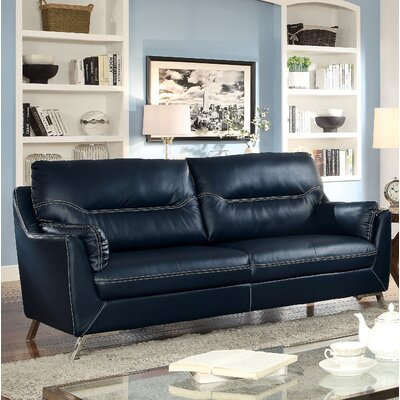 Juhasz Loveseat Upholstery: Dark Blue