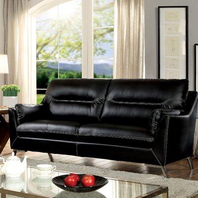 Juhasz Sofa Upholstery: Black