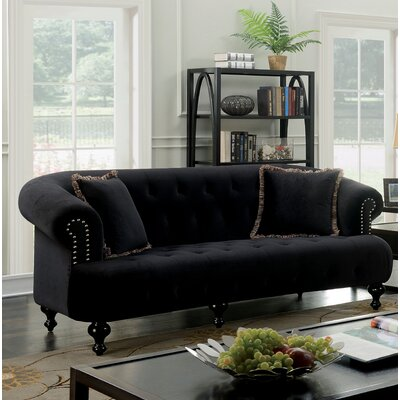 Elle Loveseat Upholstery: Black