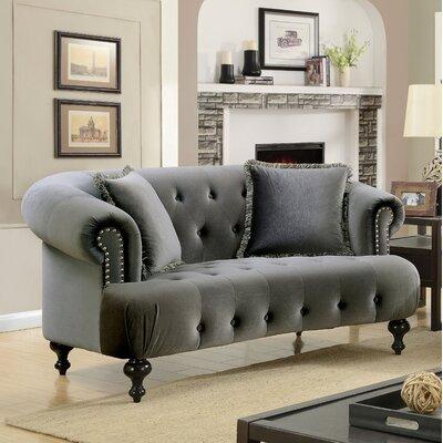 Elle Loveseat Upholstery: Gray