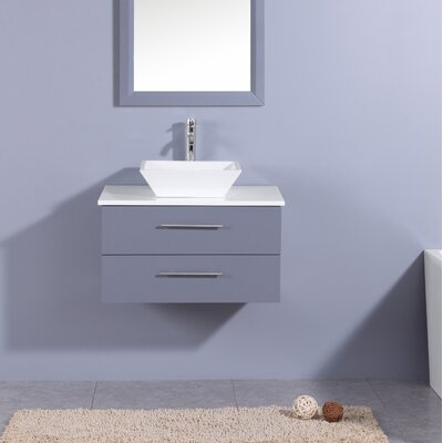 Juarez Modern 24 Single Bathroom Vanity Set Base Finish: Gray