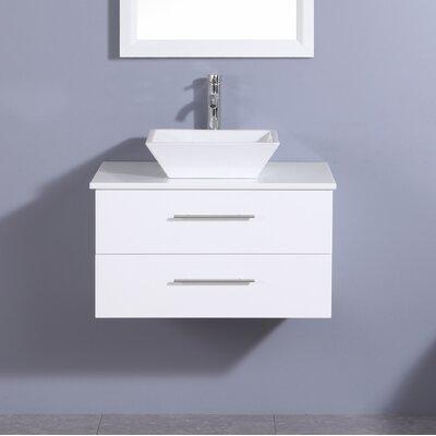 Juarez Modern 24 Single Bathroom Vanity Set Base Finish: White