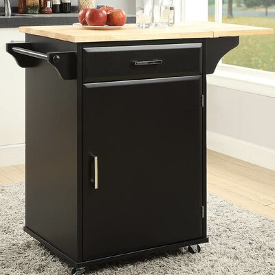 Morabito Kitchen Cart Base Finish: Black