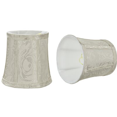 Chandelier Clip-On 5 Fabric Bell Lamp Shade Color: Off White