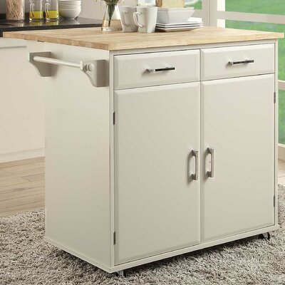 Morabito Kitchen Cart Base Finish: White