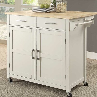 Moorman Kitchen Cart Base Finish: White