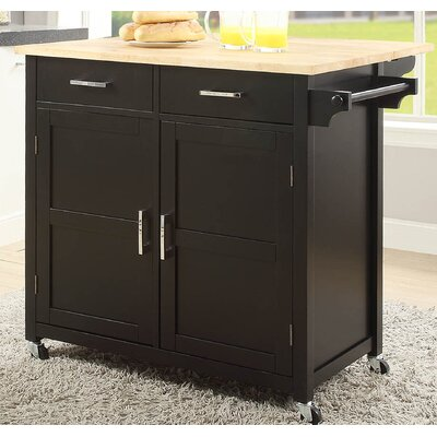 Moorman Kitchen Cart Base Finish: Black