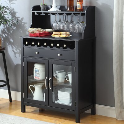 Dishon Bar Cabinet Color: Black